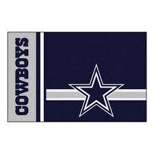 fanmats nfl dallas cowboys blue uniform inspired 2 ft x 3 ft indoor