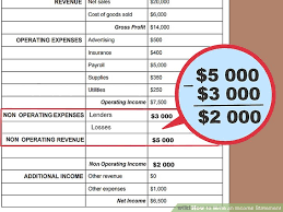 Sample Traditional Income Statement Custom How To Write An Income Statement With Pictures WikiHow