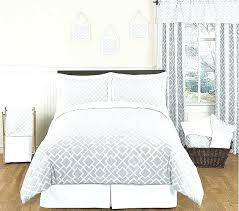collection lottie grey and white bedding set double white and silver queen beddi