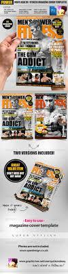 Men S Power Fitness Magazine Cover Template Http Startupstacks