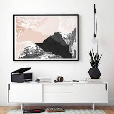 large abstract wall art print living room art