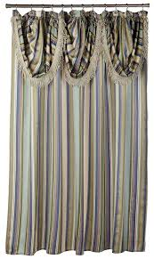 com popular bath contempo blue with attached valance fabric shower curtain home kitchen