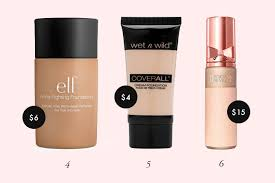 e l f acne fighting foundation this foundation contains salicylic acid and tea tree to treat and prevent breakouts so it s perfect if you have acne e