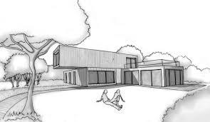 esquisse 3d plan de maison d architecte contemporaine