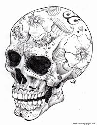 Searching for a coloring page? Skull And Crossbones Coloring Pages Inspirational Hard Skull Coloring Pages Meriwer Coloring