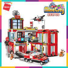 Bộ Đồ Chơi Xếp Hình Thông Minh Lego Qman 12014 - Trung Tâm Xe Ô Tô Cứu Hỏa  693 Mảnh Ghép Cho Trẻ Từ 6 Tuổi giá cạnh tranh
