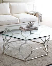 coffee table glass and silver pertaining to idea 9