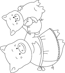Small Picture Free Printable Baby Pig and mother pig ride high coloring pages