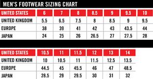 Tcx Boots Size Chart Icon Footwear Size Chart