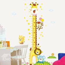 76 lovely tall giraffe print height measurement kids wall decal