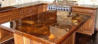 removing stains from concrete countertops