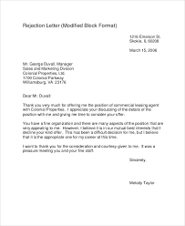 Resume Rejection Letter Job Rejection Letters 10 Free Word Pdf Format Download