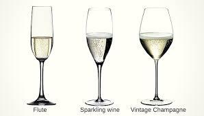 types of champagne glasses sparkling wine glasses