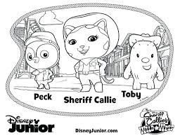 Small Picture Disney Junior Coloring Pages Sheriff Callie Page Best Of kiopadme