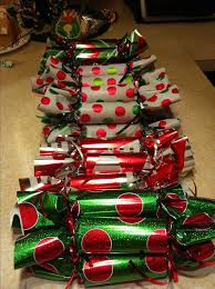 Christmas party favors! So simple.... Toilet paper rolls, fill with
