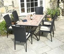 medium size of mosaic outdoor dining table awesome mosaic rectangular table with bench for elegant outdoor