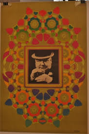 """1967 PETER MAX W. C. FIELDS #4 LITHOGRAPHED POSTER 36"""" x 24"""" 