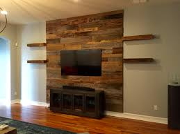 Trevor's Reclaimed Barn Wood Accent Wall with Shelving | Fama Creations