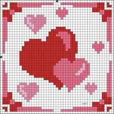 Рисунки по клеточкам - <b>Сердечки</b> - для срисовки | 1000 Рисунков ...