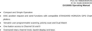 30303x3s Marine Transceiver User Manual Fcc Id K6630303x3s