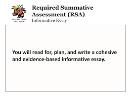 florida english language arts standards lafs ppt video online  required summative assessment rsa informative essay