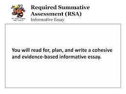 florida english language arts standards lafs ppt video online  required summative assessment rsa informative essay