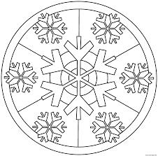 Coloriage Mandala Noel Flocons De Neiges Dessin