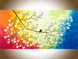 colors of love by qiqigallery 48 x 24 original modern abstract landscape wall painting