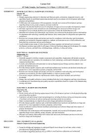 Embedded Hardware Engineer Resume Sample Electrical Hardware Engineer Resume Samples Velvet Jobs 2