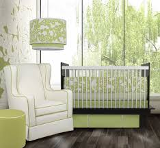 baby nursery lighting ideas. endearing light green black and white baby nursery room decoration using bed valance lighting ideas s