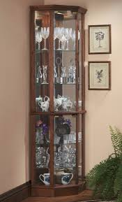 Glass Curio Cabinets With Lights 10 Beautiful Ideas Of Lighted Corner Curio Cabinet Chloeelan