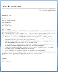 Ideas Of Sample Cover Letter For Medical Radiation Technologist For