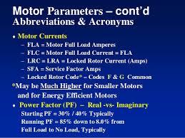 Ac Motor Full Load Amps Chart Motors Starting