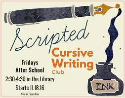 the case for cursive analog tool in a digital world blog scripted was a 10 week program that met on friday afternoons in the library from 2 30 to 4 30 pm there were 15 members in the club ranging from 3rd to 5th