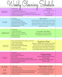 Weekly Cleaning Schedule Printable Task List Templates