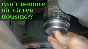 Tip To Remove A Stuck Toyota Oil Filter Housing - YouTube
