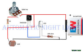 simple circuit for every electronics beginners automatic night picture of simple circuit for every electronics beginners automatic night lamp