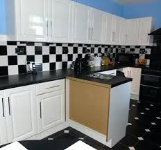 kitchen wall design tiles black and white combo kitchen wall tiles design