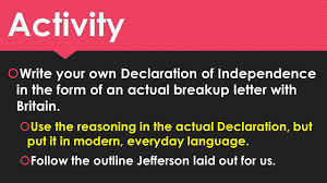 The Declaration Of Independence The Greatest Breakup Letter Of All