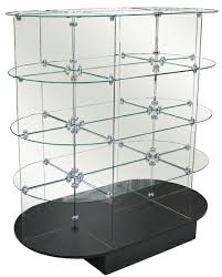 Glass Stands For Display Glass Oval Display Unit Glass Display Stand Store Display Glass 31