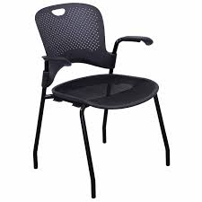 herman miller caper used stack chair dark gray  national office