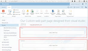 Web Parts Sharepoint Designer Create A Web Part Page Using Visual Studio 2013 In