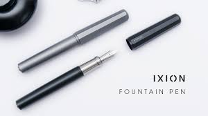 A modern fountain pen with a minimalist design. Premium materials and  high-end components