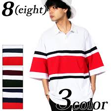 it is the introduction of the panel horizontal stripe color change short sleeves big rugby shirt of the extreme popularity in american casual system of