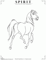 Beautiful Spirit Stallion Of The Cimarron Coloring Pages 48 With ...