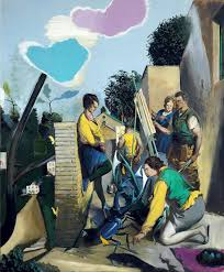 berlin drawing room neo rauch and his discordant color world