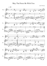 May The Force Be With You - Star Wars   Sheet music for Piano   MuseScore