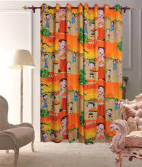 Comforthome Kids polyester Room Decor Curtain - Set Of 2