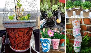17 cool ways to decorate your flower pots