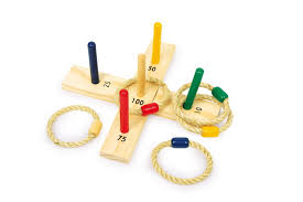 Wooden Hoop Game Wooden Toy Small Outdoor Game Hoopla Quoits Throwing Garden Game 56
